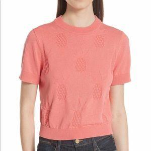🆕 Kate Spade Pineapple 🍍 Textured Crop Sweater